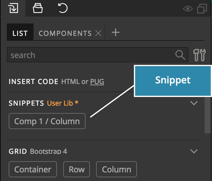 HTML Snippets | Pinegrow Web Editor